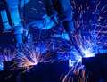 Welding robots Royalty Free Stock Photo