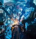 Welding robots Royalty Free Stock Photo