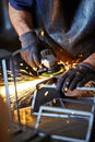 Welding sparks Royalty Free Stock Image