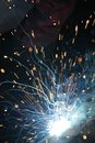 Welding sparks from of metal Stock Photography