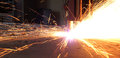 Welding sparks from of metal Stock Images