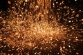 Welding sparks from of metal Royalty Free Stock Photography