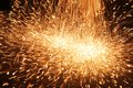 Welding sparks from of metal Royalty Free Stock Photo