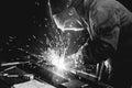 Welding steel structures