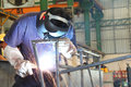 Welding structure Royalty Free Stock Photo