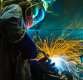 Welding work. Royalty Free Stock Photo