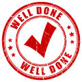 Well done stamp Royalty Free Stock Photo