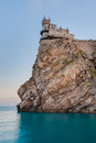 The well known castle swallow s nest near yalta crimea ukraine Royalty Free Stock Photography