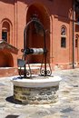 A well at Monastery Xenofontos on Mount Atho Royalty Free Stock Photography