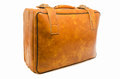 Well traveled vintage suitcase luggage photo shot Stock Images