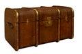 Well-Traveled Vintage Suitcase Royalty Free Stock Photo