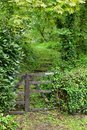 Well Worn Footpath Gate Royalty Free Stock Photo