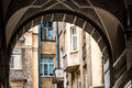 Well yard arch entrance of courtyard in st petersburg russia old architecture Stock Image