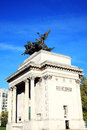 Wellington arch quadriga placed upon constitution replaced a figure of in and depicts the angel of peace Stock Photography