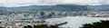 Wellington City & Harbour Panorama, New Zealand Royalty Free Stock Photo