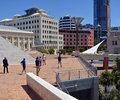 Wellington downtown CBD Architecture, New Zealand Royalty Free Stock Photo