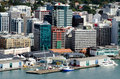 Wellington mar aerial view queens wharf march wellington nz s one busiest parts wellington city waterfront primary symbolic entry Royalty Free Stock Photos
