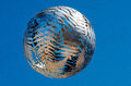 Wellington mar wellington civic square fern ball sculpture march nz s coated aluminium suspended stainless steel wires size d m Royalty Free Stock Image
