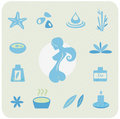 Wellness and relaxation icon pack Royalty Free Stock Image
