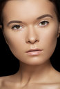 Wellness, spa & health. Model face with clean skin Royalty Free Stock Image