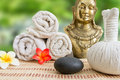 Wellness spa massage still life Royalty Free Stock Photo