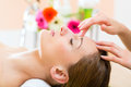 Wellness - woman getting head massage in Spa Royalty Free Stock Photo