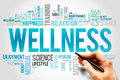 Wellness word cloud fitness sport health concept Royalty Free Stock Image