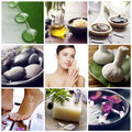 Wellnessbrunnsortcollage Royaltyfri Bild