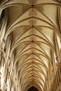 Wells cathedral roof at somerset england demonstrating early english architecture in an anglican church Stock Images