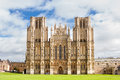 Wells cathedral in somerset england uk Stock Photo