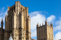 Wells cathedral in somerset england uk Stock Images