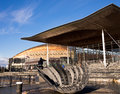Welsh Assembly and Remembrance Sculpture Royalty Free Stock Photo