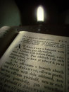 Welsh bible photograph in a chapel with a page of a Royalty Free Stock Images