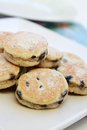 Welsh cakes stacked isolated on platter Stock Photos