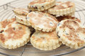Welsh cakes on a wire rack Royalty Free Stock Photos