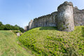 Welsh castle with dry moat Stock Photography