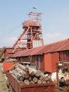 Welsh Coal Mining Pit Machinery Royalty Free Stock Image