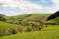 The welsh countryside a view of beautiful with cows and sheep grazing Stock Photo