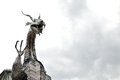 welsh metal dragon sculpture Royalty Free Stock Photo
