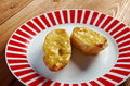 Welsh rarebit toasted bread with melted cheddar cheese Stock Photography