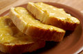 Welsh rarebit toasted bread with melted cheddar cheese Royalty Free Stock Photography