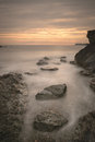 Welsh seascape a view of the stunning rock formations at porth y post on the island of anglesey Royalty Free Stock Image