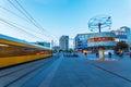 Weltstempeluhr auf alexanderplatz in berlin deutschland an der dämmerung Lizenzfreie Stockfotos