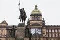 Wenceslas Square in Prague Royalty Free Stock Photo
