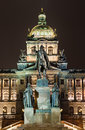 Wenceslav Square and National Museum, Prague Royalty Free Stock Photos