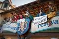 Wenches protest at Arizona Renaissance Festival. Royalty Free Stock Photo