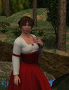 Wendy beautiful medieval maiden this d illustration is of a fantasy female as part of this d modeling venture was designed to Royalty Free Stock Photo