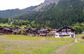 Wengen in the swiss Alps Royalty Free Stock Photo