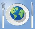 Wereld op uw plaat Royalty-vrije Stock Foto