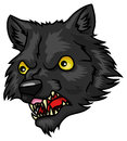 Werewolf a cartoon halloween head or mask Royalty Free Stock Images